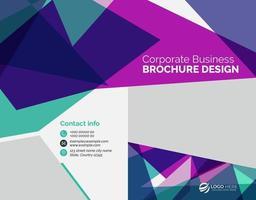 modelo de folheto corporativo abstrato colorido negócios vetor