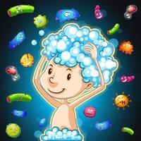 bactérias no corpo humano vetor