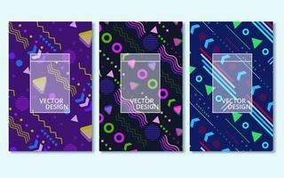 conjunto de capas abstratas modernas coloridas