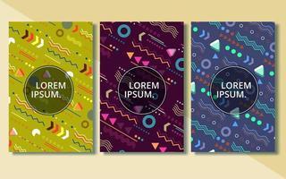 conjunto de capas abstratas modernas, conjunto de design de capas mínimas