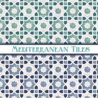 padrões geométricos estrela mediterrânicos vetor