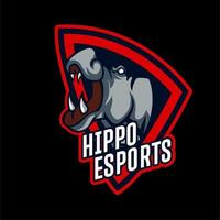 emblema de esports de hipopótamo