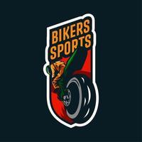 emblema de esportes motociclista vetor