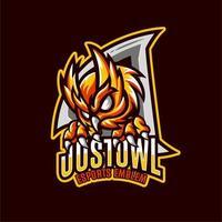 mascote coruja emblema esports vetor
