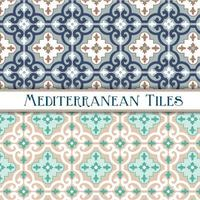 padrões geométricos mediterrânicos vetor
