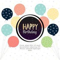 feliz aniversário balão fundo vetor