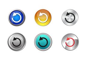 Vetor de botão de repetição grátis