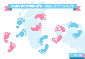 Pacote de vetores gratuitos do Baby Footprint