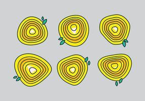 Ilustração vetorial livre dos anéis de árvores # 10 vetor