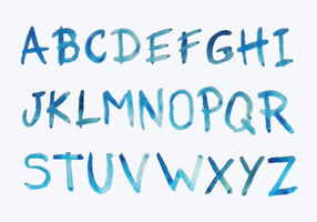 Letras de estilos de aquarela vetor