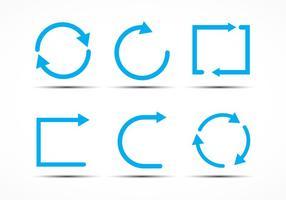 Ícones de repetição vetor