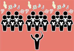 Ilustração vetorial livre do coro vetor