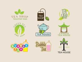 Logos da loja de chá vetor