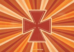 Ilustração retro da cruz maltesa vetor