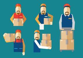 Vetores do homem de entrega