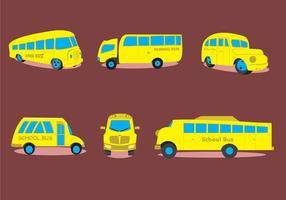 Vários tipos de ônibus escolar