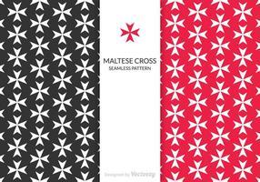 Padrão do vetor livre da cruz de maltesa