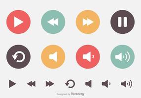 Ícones de vetores do Media Player grátis