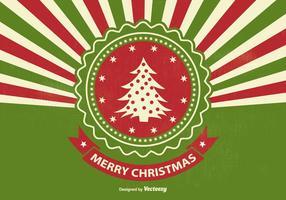 Ilustração retro do Natal do Sunburst do estilo retro vetor