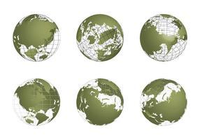 Conjunto de vetores Globo Grid grátis