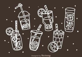 Bebidas Doddle Icons vetor