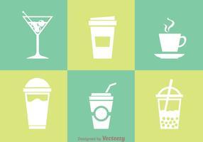 Bebidas Ícones Isolados vetor