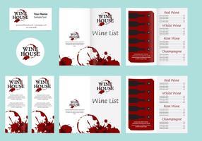 Lista de modelos e vinhos vetor