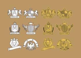 Logos heráldicos modernos vetor