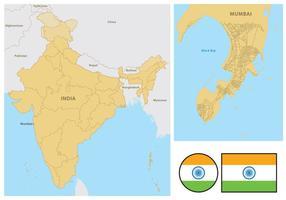 Mapa de Mumbai vetor