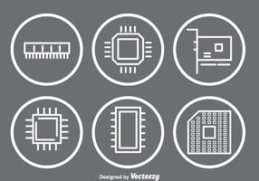 Ícones Microchip vetor