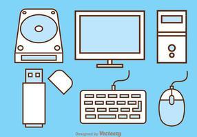 Ícones do computador