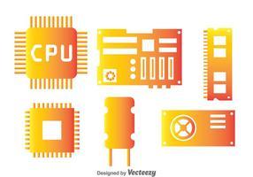 Componente de Hardware de Computador vetor