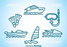 Equipamento de mergulho vetor