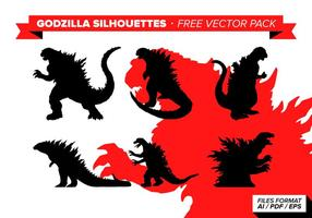 Godzilla silhouette pacote de vetores grátis