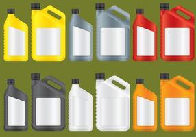 Garrafas de plástico de óleo vetor
