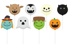 Bolo de Halloween Pops vetor