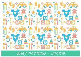 Vector do padrão do bebê