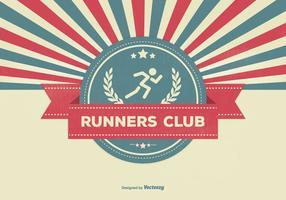 Ilustração do clube dos corredores de estilo retro