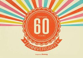 Ilustração de aniversário de 60 anos vetor