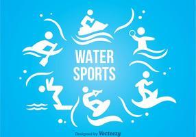 Ícones de esportes aquáticos vetor