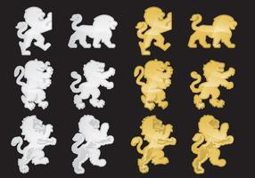 Leões heráldicos vetor