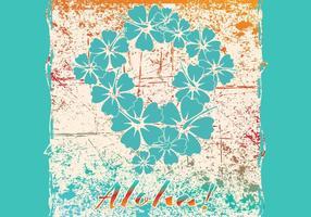 Cartão Aloha vetor