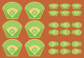Diamantes de basebol vetor