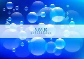 Bolhas de água no fundo azul vetor