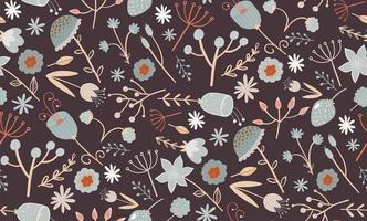 elegante padrão floral sem costura com uma flores pequenas