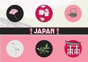 Ícones do vetor de Japão