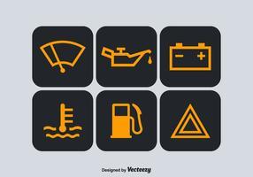 Símbolos vetoriais gratuitos do painel do carro vetor