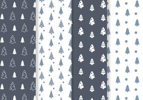 Vector de padrão de árvore de Natal grátis
