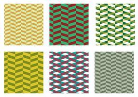 Vetor de padrão verde-herringbone