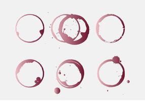 Mancha de vinho vetorial vetor